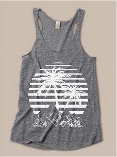 Womens VINTAGE Bahamas BEACH TriBlend Tank Top by FreeBirdCloth, $18.00