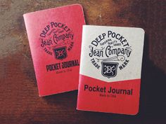 Deep Pocket Jeans Company Scout Books