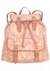 Canvas Backpacks Pink Paisley