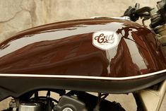 """""""Brownie"""" - a 1980 Honda CB750 by CRD. Use of the pinstripe and matte finish on the lower portion of the tank is a truly elegant way to diminish the awkward features that were meant to flow into the clunky oem bodywork. I wish I had thought of that when I owned mine in the early 2000s."""