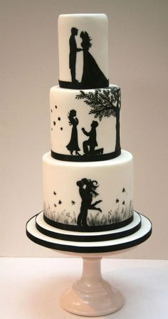 What a unique wedding cake! #uniqueweddingcakes