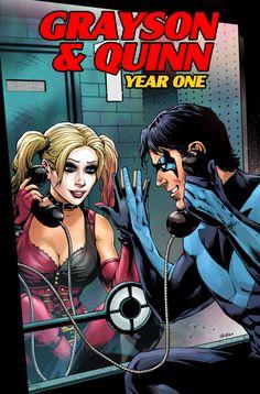 Nightwing & Harley Quinn by Wayne Nichols