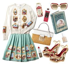 """""""Picnic"""" by peachgirl100 ❤ liked on Polyvore featuring Serge Lutens, Dolce&Gabbana, Claudio Riaz and Essie"""