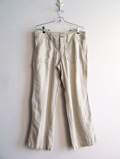 Banana Republic 100% Linen Ladies Pants Size 12 Made in India Beach Lounge EUC #BananaRepublic #CasualPants #linenPants