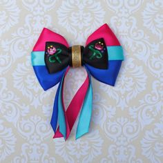 Anna Frozen Inspired Bow by SmallWorldBows on Etsy, $9.00