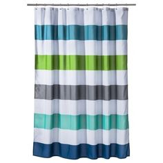 CircoR Cool Rugby Stripes Shower Curtain Boys Striped Curtains Bathroom