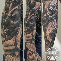 Pic 2 of this killer Sleeve By Artist: Robert Pho, @skindesigntattoos.  Located: Las Vegas.  To book an appointment  Email: info@skindesigntattoos.com.  #bnginksociety #bgis