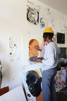 Studio Visits: Devin B Johnson Piskel Art, Arte Peculiar, Art Hoe Aesthetic, Aesthetic Drawing, Exhibition, Make Art, Art Studios, Graphic, Artist At Work