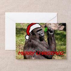 Christmas Gorilla Greeting Cards (Pk of 10)