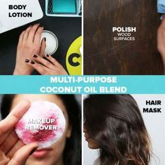Coconut Oil Uses - Multi-Purpose Coconut Oil Blend 9 Reasons to Use Coconut Oil Daily Coconut Oil Will Set You Free — and Improve Your Health!Coconut Oil Fuels Your Metabolism! Diy Beauté, Coconut Oil Uses, Diy Coconut Oil Hair Mask, Coconut Oil Face Moisturizer, Coconut Oil Makeup Remover, Diy Makeup Remover Wipes, Homemade Makeup Remover, Coconut Oil Lotion, Makeup Removers