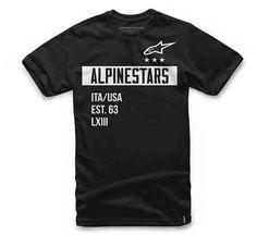 #Alpinestars valiant tee nero ad Euro 27.95 in #Alpinestars #Magliette e t  shirts uomo