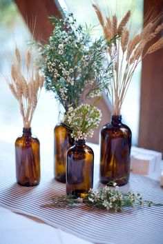 wedding centerpieces- loose clusters of flowers, with candles and look greenery, your flowrs and colors decoration candles Intimate Sundance Resort Wedding ⋆ Ruffled Rustic Wedding Centerpieces, Wedding Table, Fall Wedding, Diy Wedding, Wedding Flowers, Wedding Ideas, Trendy Wedding, Wedding Rustic, Wedding Country