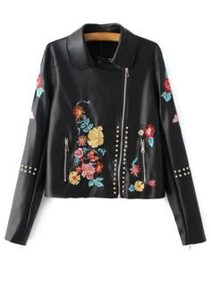 SHARE & Get it FREE   Embroidered Studded PU Leather JacketFor Fashion Lovers only:80,000+ Items • New Arrivals Daily Join Zaful: Get YOUR $50 NOW!