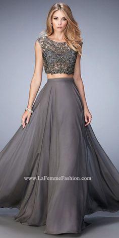 Beaded Sheer Prom Dress by La Femme #edressme