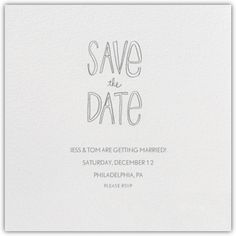 Save The Date Handwriting - Paperless Post