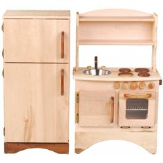 Stunning Play Kitchen Set: Simple Hearth and Fridge from Palumba. A #CanDoBaby! fave.