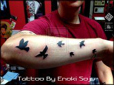 Flying Birds Tattoo By Enoki Soju by enokisoju.deviantart.com on @deviantART