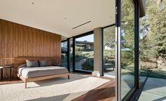 chambre - Oak Pass Main House par Walker Workshop - Los Angeles, Usa