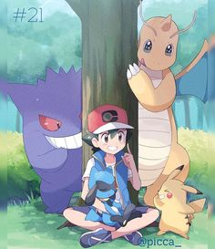 Pokemon Comics, Pokemon Fan Art, Ash Pokemon Team, Cool Pokemon, Pokemon Sun, Pokemon Images, Pokemon Pictures, Satoshi Pokemon, Pokemon Ash And Serena