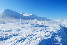Kolyma Highway, the world's coldest road. In Yakutia, Siberia / Russia