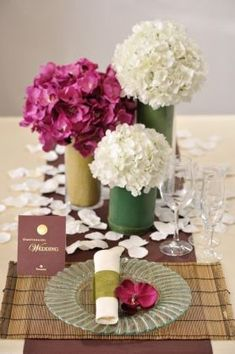 Japanese Table, Japanese Party, Japanese Dinner, Japanese Wedding, Japanese Modern, Wedding Table Flowers, Wedding Table Decorations, Bamboo Centerpieces, Cherry Blossom Theme