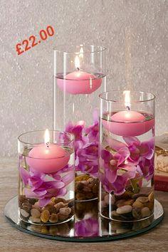 Pink Floating candles set  £22.00