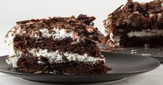 Black forest cake by the Greek chef Akis Petretzikis! Make easily and quickly this recipe for a delicious chocolate cake with sour cherries and whipped cream! Cookbook Recipes, Cake Recipes, Cooking Recipes, Greek Sweets, Black Forest Cake, Tasty Chocolate Cake, Greek Cooking, Happy Foods, Party Desserts