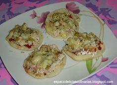 Mini-pizza rápida de frango - Espaço das delícias culinárias