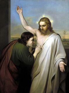 Silvestro Lega, Incredulità di San Tommaso, 1850