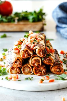 Crispy Jalapeno Popper Beef Taquitos bursting with irresistible creamy, cheesy spicy beef filling (customizable) all cocooned in crispy tortillas and done in less than 30 mintues! These are my husband's favorite ever appetizer and I couldn't stop eating them! Perfect game day any party appetizer!