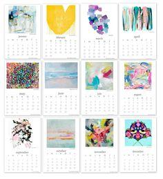 2016 Free Printable Calendar: Artist Collaboration Project