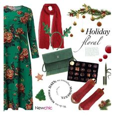 """""""Holiday Floral"""" by ansev ❤ liked on Polyvore featuring Rococo Chocolates, Stila, Jeffrey Campbell, Topshop, women's clothing, women's fashion, women, female, woman and misses"""