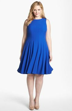 Calvin Klein Sleeveless Fit & Flare Dress...  I own this Fabulous Dress... Fits like a dream...  :)