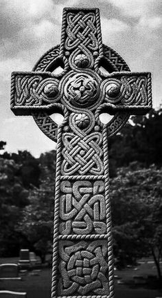 Beautiful Large Celtic Cross Monument Grave Marker In