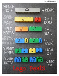 Lego Beats Music Manipulatives - Let's Play Music