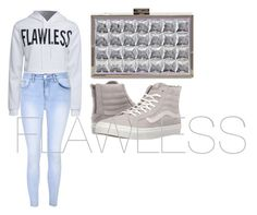 """We Flawless"" by duna748 ❤ liked on Polyvore featuring WithChic, Glamorous and Vans"
