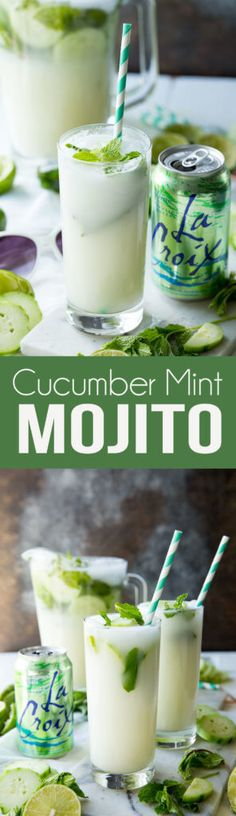 You read that right! Cucumber + Mint in this Mojito or No jito! One of my favorite combinations for a refreshing summer time drink. #refresher #coldbeverage #mojito #mintmojito