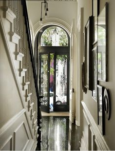 Black Doors: Simple Elegance - this blog seriously makes me want to paint an interior door black. So elegant!