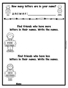 Freebie! Have them walk around the room and count letters in name on nametags. Enjoy!