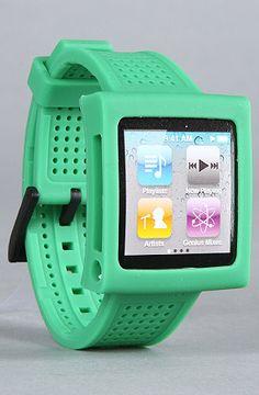green hex watchband for ipod nano.