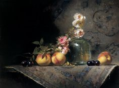 "David A. Leffel (American, born 1931) ""Fairie Roses and Fruit"", 2001"