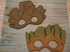 Groot inspired felt mask Child Adult for dress up or Halloween Costume Pretend Play Imagination Education party favor Dress Up Closet, Pretend Play, Holidays Halloween, Mask Design, Party Themes, Party Ideas, Little Ones, Party Favors, Birthday Parties
