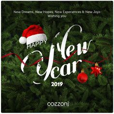 Happy New Year 2019 We wish you all a Great Year! Info Board, Happy New Year 2019, New Experience, Wish, Joy, Christmas Ornaments, Holiday Decor, Glee, Christmas Jewelry