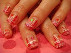 I like it, but I think it's too much on every nail. Maybe just the ring fingers.