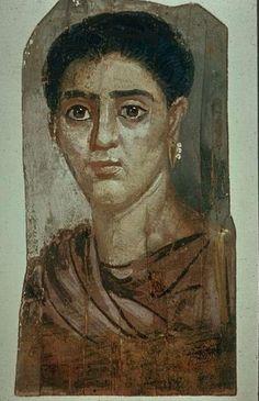 Fondation J.-E Berger-World Art Treasures, Portrait de femme Epoque romaine: 110-120 Hawara Egypt mod