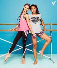 Our made-to-match, print-perfect performance tops and bottoms make an awesome duet on the dance floor.