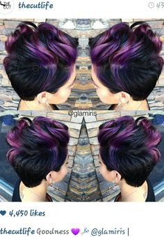 Short fierce and purple
