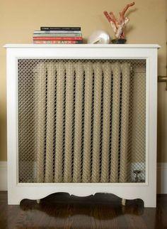 Cache radiateur avec grille