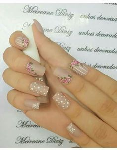 Belen Pedicure Nails, Manicure, Cute Spring Nails, Short Square Nails, Magic Nails, Fire Nails, Toe Nail Designs, Stylish Nails, Flower Nails