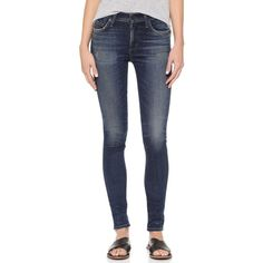 Citizens of Humanity Rocket High Rise Skinny Jeans ($245) ❤ liked on Polyvore